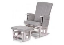 Childhome Gliding Chair + Voetenbank grijs