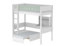 Flexa White Casa hoogslaper wit/mint