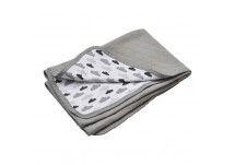 Lodger Baby Dreamer Quilt 100x150 cm grey