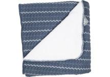 Baby Anne-Cy Ledikantdeken Nice - Jeans Blue