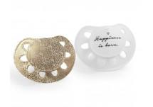Elodie Mini Fopspeen 0 - 6 mnd Mini fopspeen White/Gold