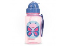 Skip Hop Zoo Drinkbeker met rietje Skip Hop Zoo Straw Bottle butterfly