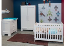 Bopita Tim babykamer white wash