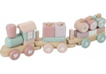 Little Dutch Houten Blokkentrein Pink  Little Dutch Houten Blokkentrein Pink