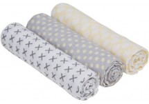Lässig Swaddle/Burp blanket 3-pack