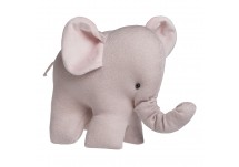 Baby's Only Knuffelolifant Sparkle Zilver-Roze
