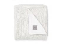 Jollein Ledikantdeken River Knit Fleece - Cream White