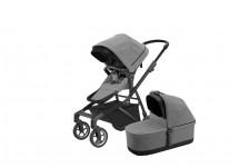 Thule Sleek Kinderwagen Complete Set - Grey Melange On Black