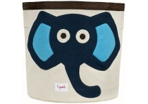 3 Sprouts Storage Bin Elephant Blue