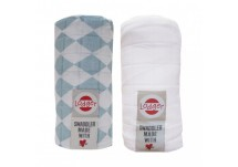 Lodger Swaddler Cotton 2-pack silvercreek / wit