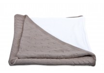 Baby's Only Omslagdoek Kabel/Chennille - Taupe